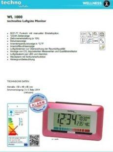 TechnoLine WL 1000 Luftgüte-Monitor mit Luftgütealarm - rot