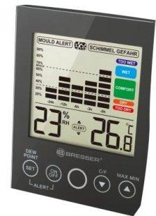 BRESSER MA Hygrometer mit Schimmelalarm Farbe: schwarz