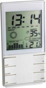 TFA 35.1102.02 Digitale Wetterstation, mit Hygrometer und Uhr, weiß, weiß (1 Stück)