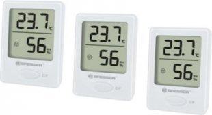 BRESSER Temeo Hygro Indikator 3er Set Thermo-/Hygrometer Farbe: weiss