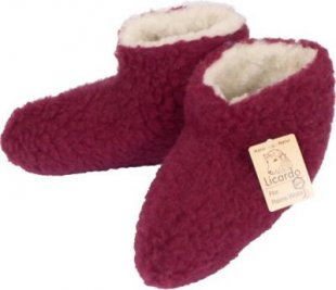 Cats Collection Bettschuh Wolle bordeaux