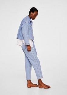 MANGO Relaxed Jeans mit Gürtel