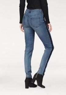 Aniston Skinny-fit-Jeans mit kontrastfarbiger Waschung an den Seitennähten