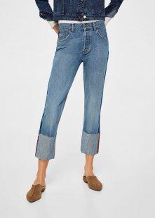 MANGO Straight Jeans mit Umschlag