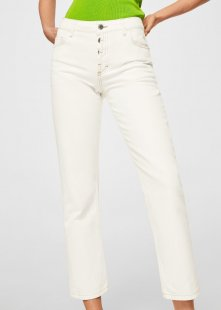 MANGO Straight Jeans in Cropped-Länge