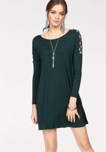 Melrose Jerseykleid mit Gitteroptik an den Ärmeln