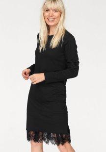 eksept Sweatkleid »CANDY DRESS« mit Spitzeneinsatz