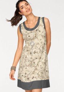 Boysen´s Jerseykleid im optischen Lagenlook aus reiner Baumwolle