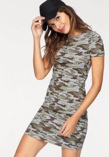 AJC Jerseykleid im modischen, tarnfarbenen Druck