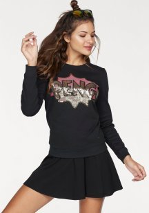AJC Sweatshirt mit Pailletten-Applikation im Comic Style
