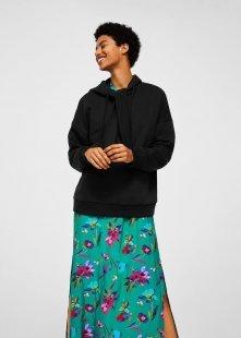 MANGO Baumwoll-Sweatshirt mit Knoten