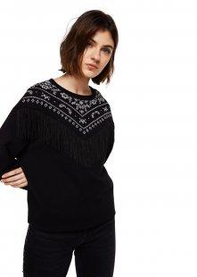 MANGO Baumwoll-Sweatshirt mit Fransen