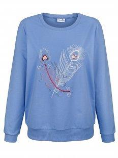 Dress In Sweatshirt mit Federnmotiv