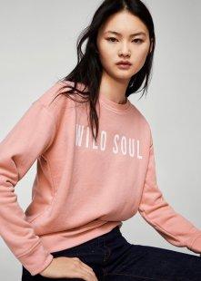 MANGO Sweatshirt mit Schriftzug-Design
