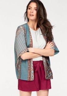Tamaris Druckbluse in Kimono-Form