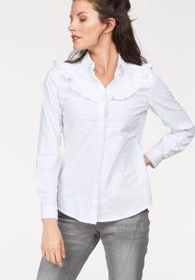 Aniston Hemdbluse mit Rüschen verziert