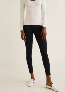 MANGO Basic-Leggings aus Baumwolle