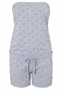SUBLEVEL Jumpsuit mit Flamingo-Druck