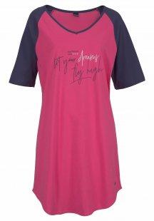 Arizona Bigshirt mit kontrastfarbenen Ärmeln und Schrift Print