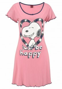 Peanuts Nachthemd mit Snoopy »just be happy« Print