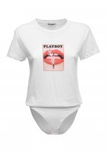 Playboy Body mit Marken-Frontdruck