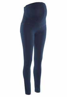 Neun Monate Umstandsleggings in blue Denim-Optik