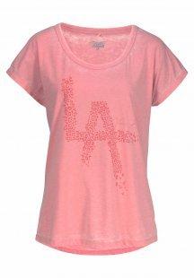 Venice Beach T-Shirt »Popcorn« mit Schriftprint in Leo-Muster