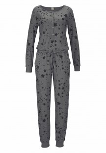 Bench. Homewear Jumpsuit mit Sternenprint