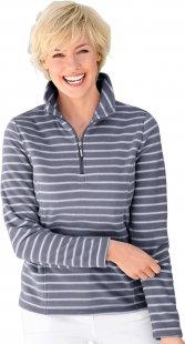 Collection L. Fleece-Shirt mit formgebenden Wiener Nähten