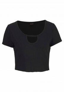 LASCANA Crop-Shirt aus elastischer Rippware