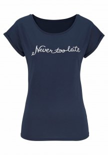 Beachtime T-Shirt mit modischem Print vorn
