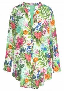 Desigual Weites Nachthemd mit tropischem Blumenprint