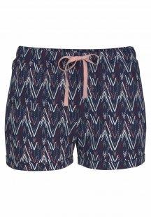 Petite Fleur Shorts mit Allover-Muster