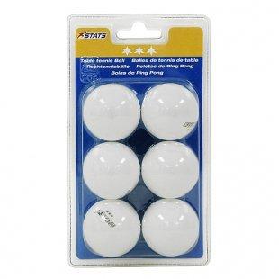 STATS - Tischtennis Bälle 3 Stern, 6 Stk.